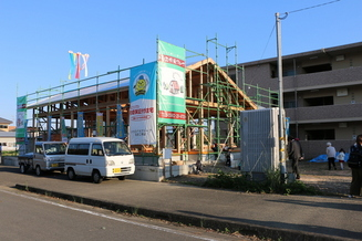 延岡市野田町 新築工事 上棟式&餅まき 大盛況‼